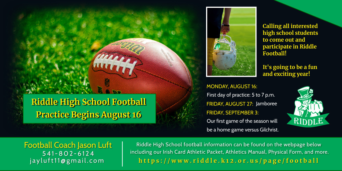 Riddle Football Practice Begins August 16