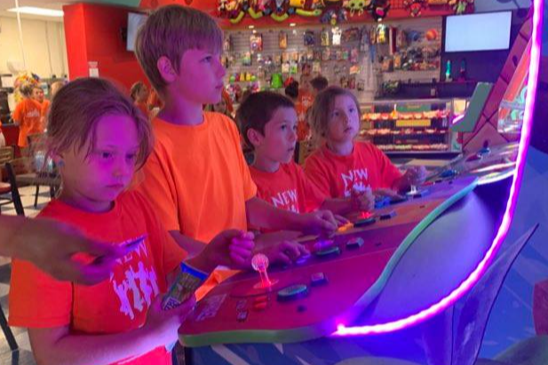 Arcade fun was had by New Ventures Campers!
