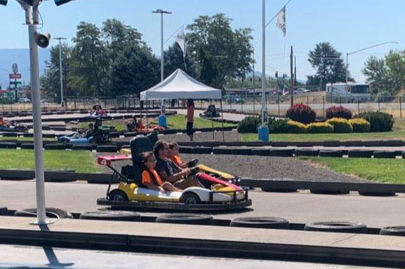 Race cars and lunch fun for New Ventures Campers!