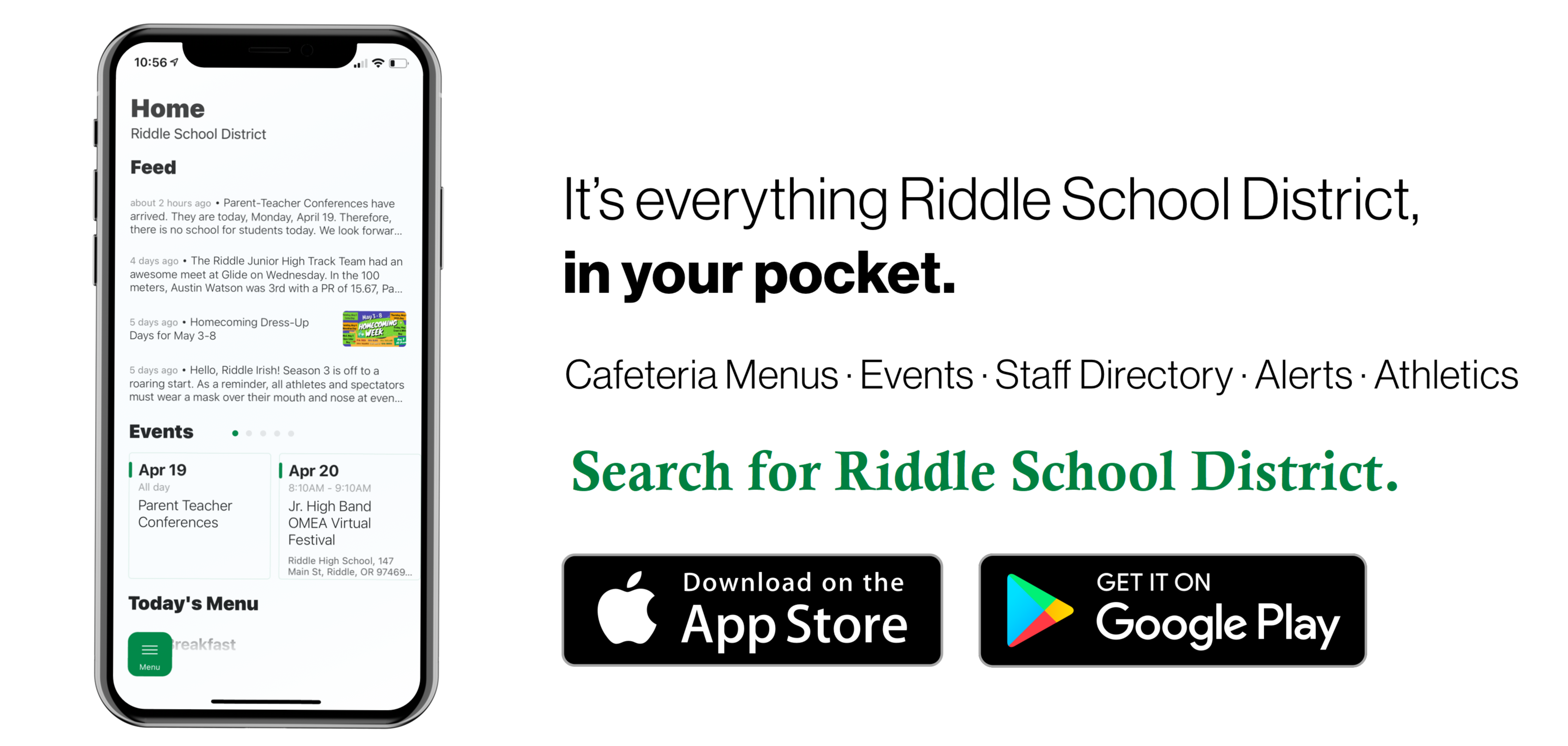 Riddle School District app is now available on the app stores.