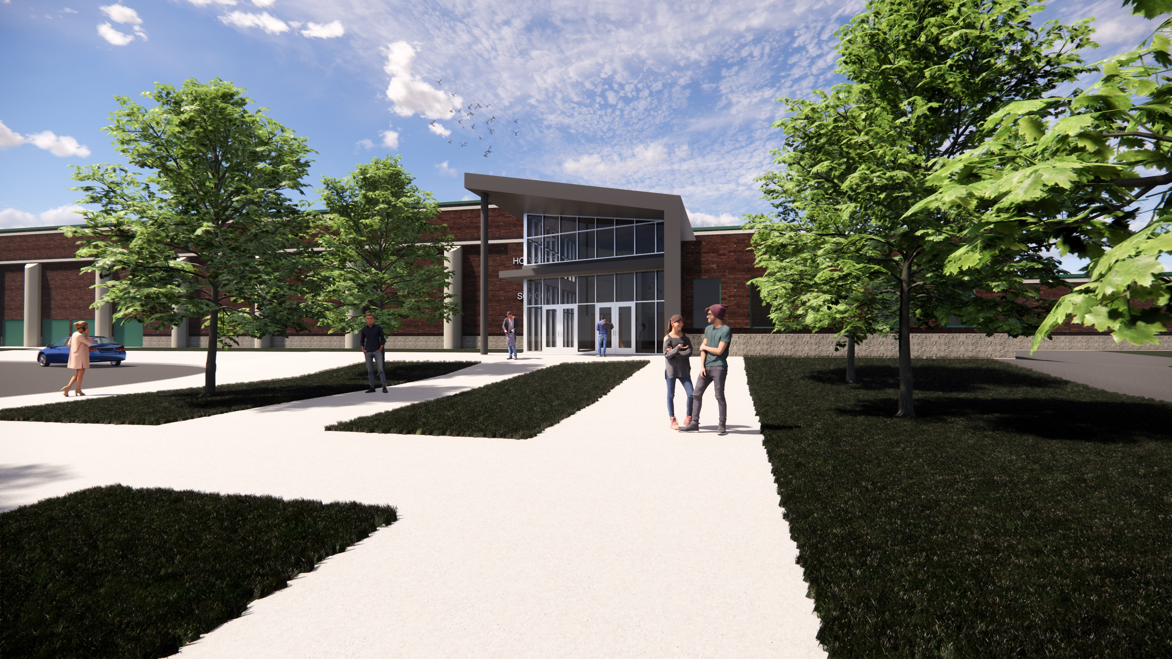 High School Office Addition and Entry