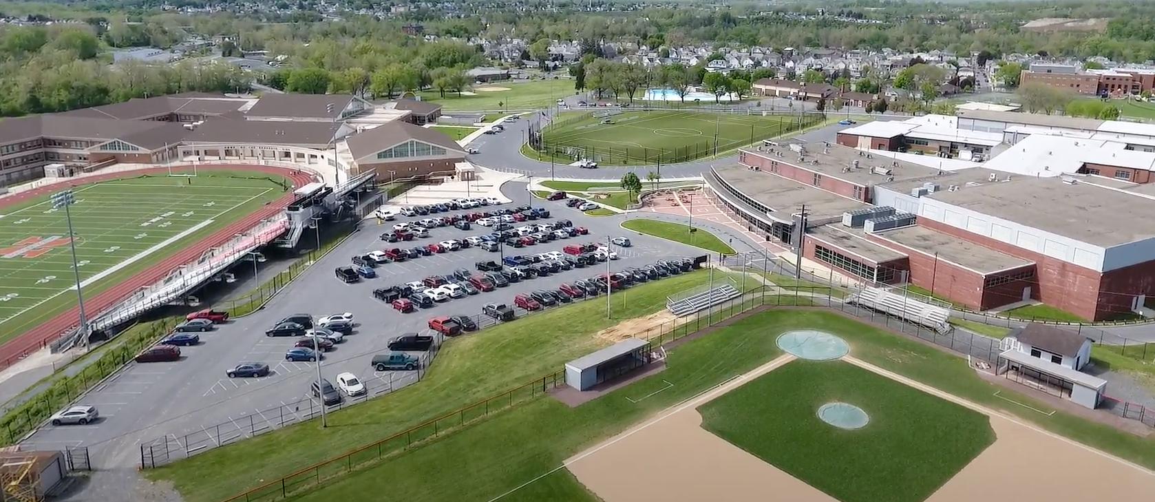 Northampton Area High School aerial photo