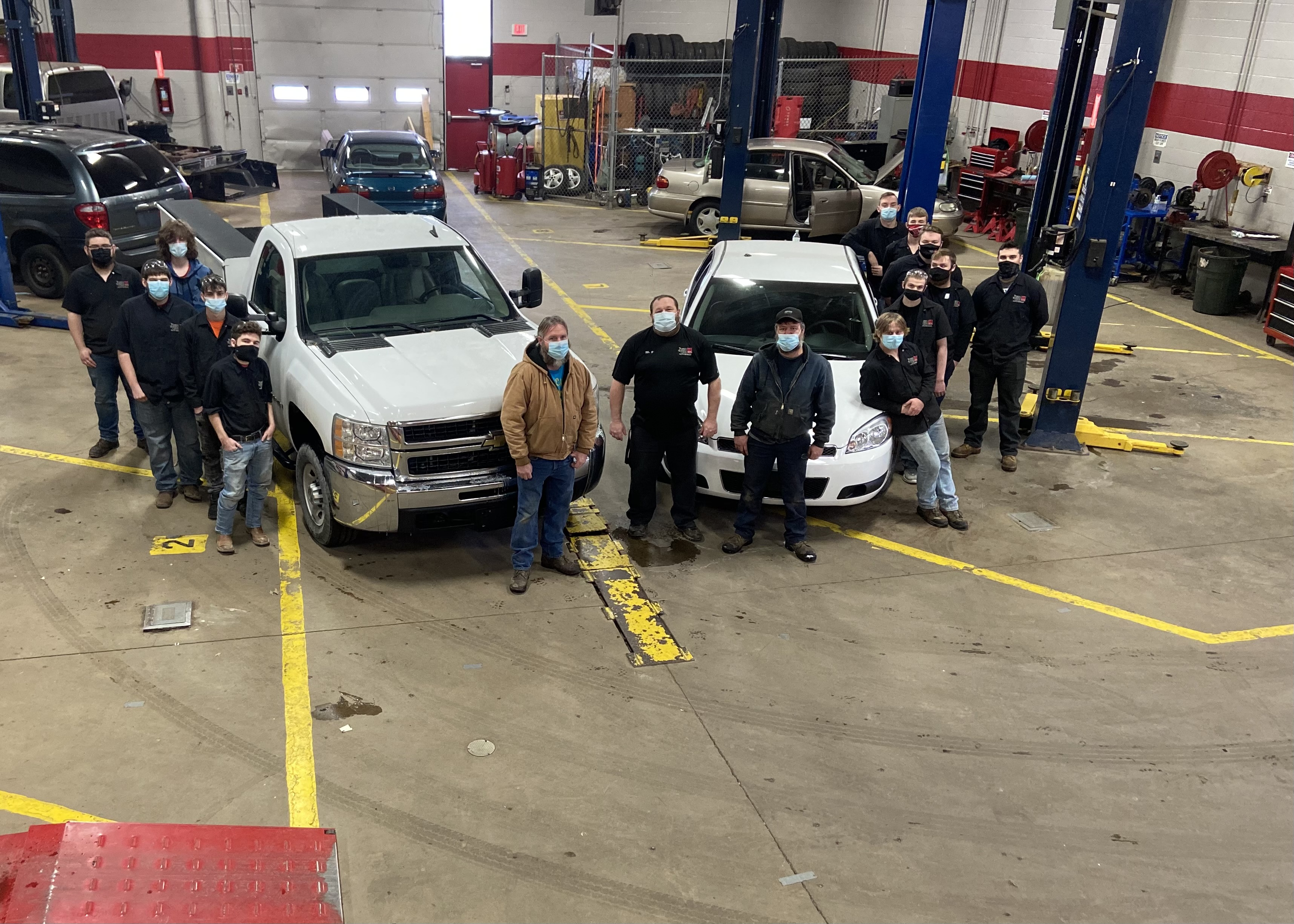Donated vehicles from Lordstown