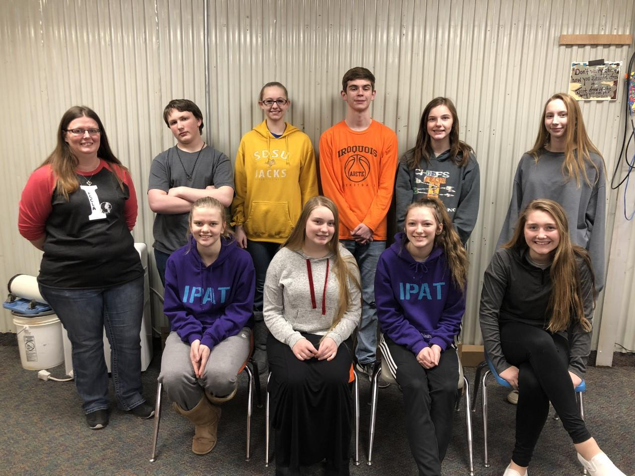 High schools students participated in the Popcorn Pep Club Contest