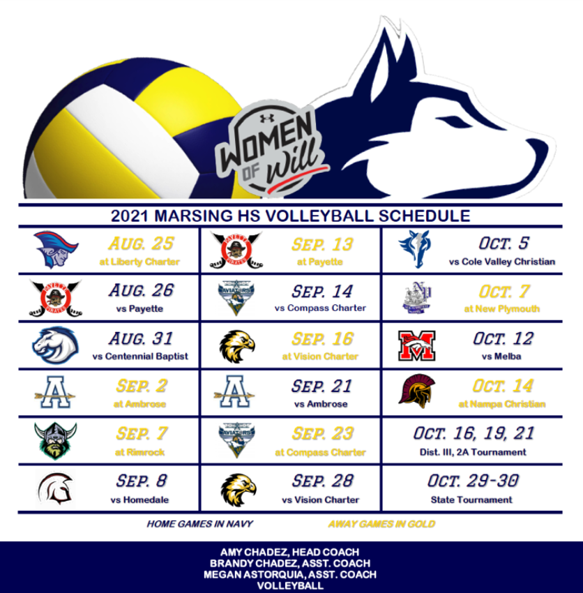 2021 HS Volleyball Schedule