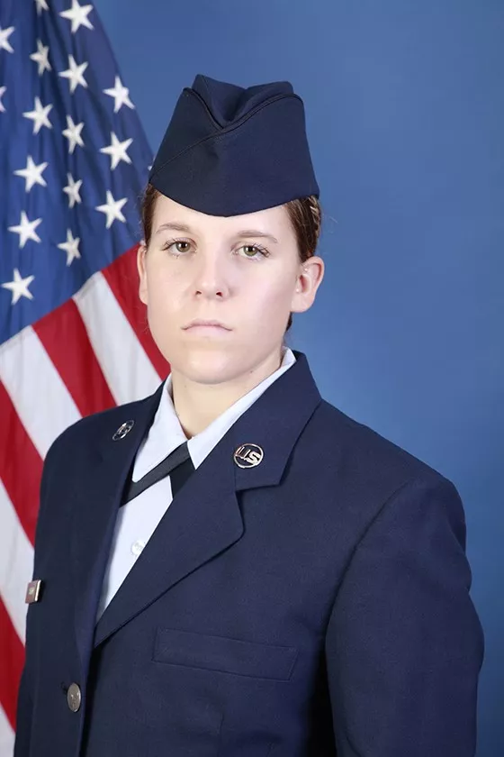 U.S. Air Force Airman Andrea P. Snyder graduated from basic military training