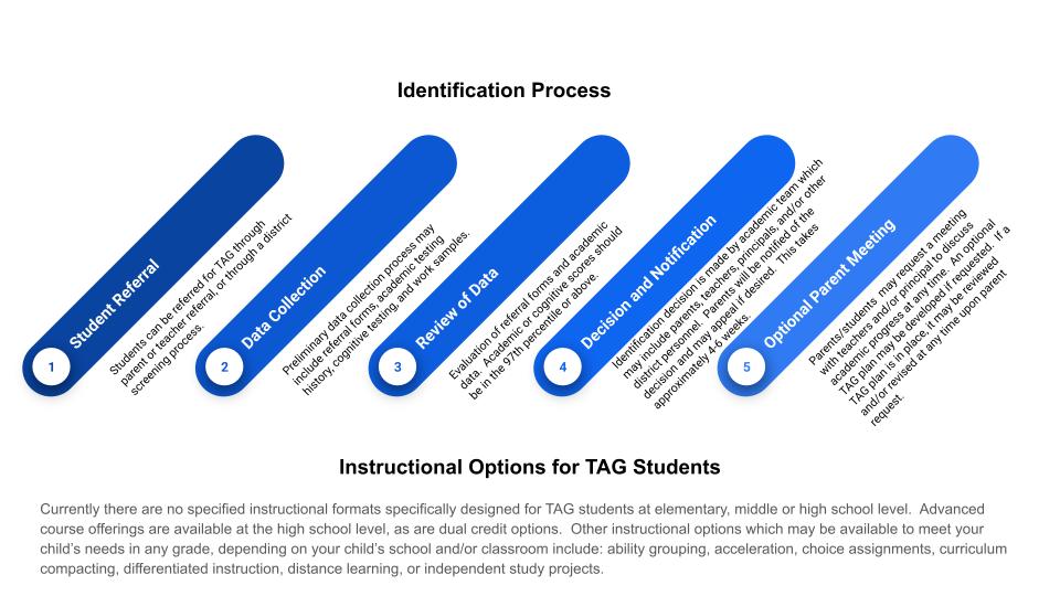 TAG program identification flow chart