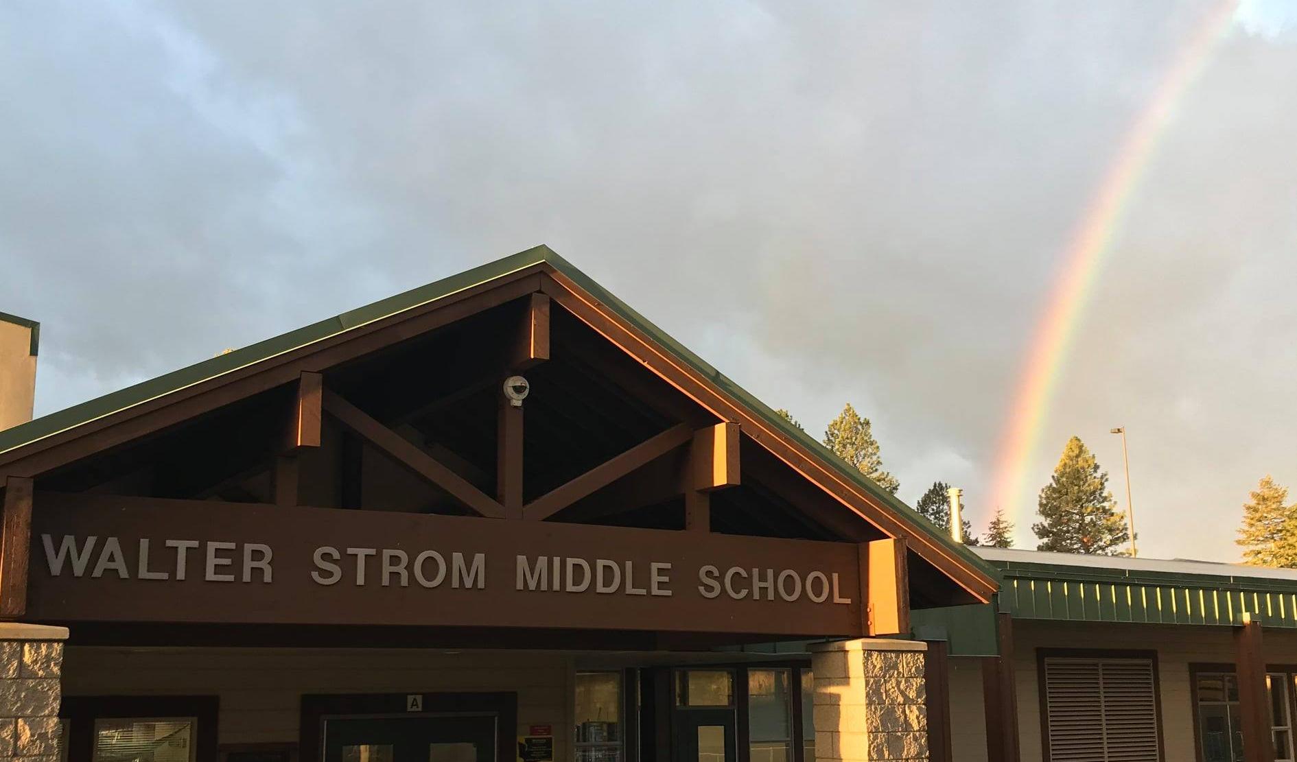 Rainbow above WSMS