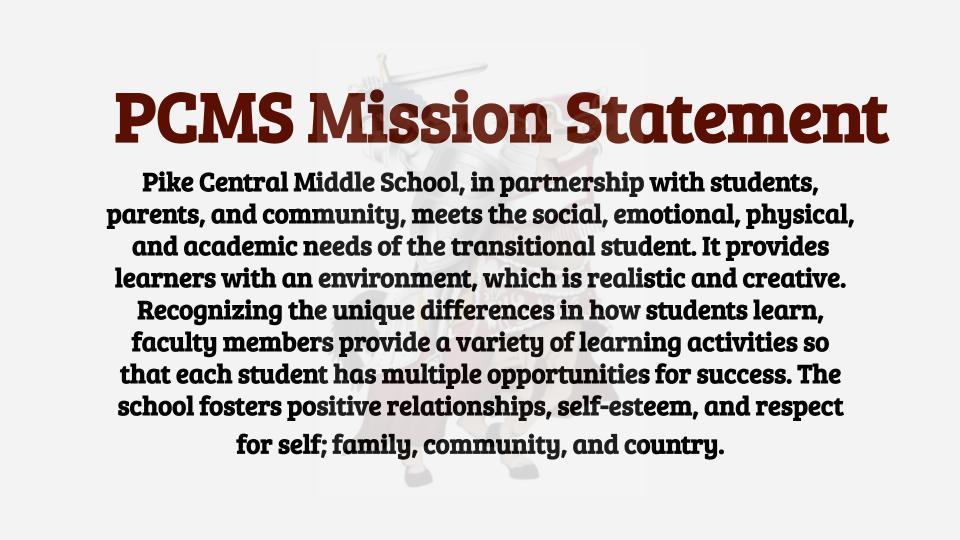 PCMS Mission Statement