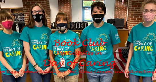 Book Club participates in Day of Caring