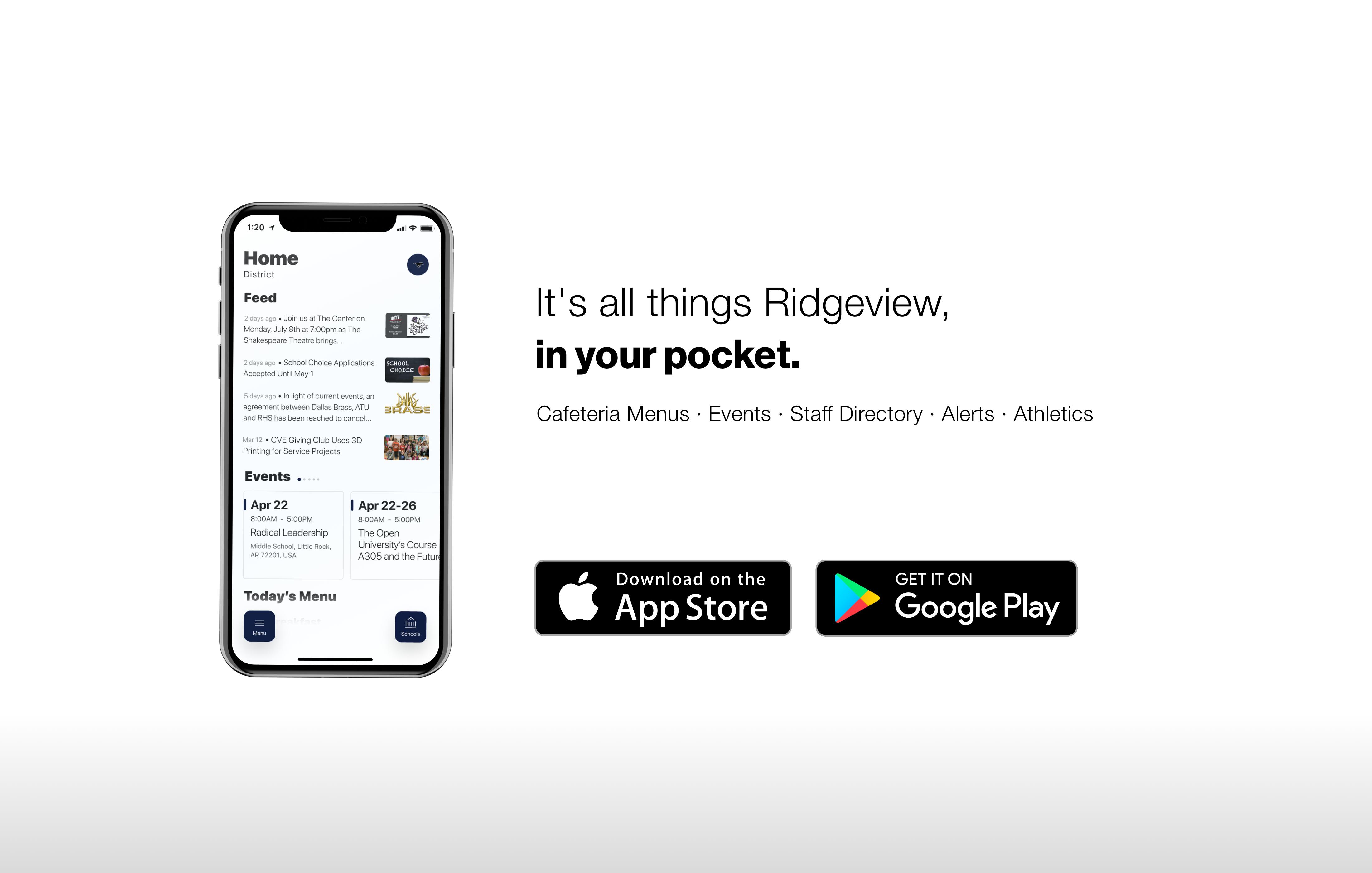 Ridgeview Mustangs App