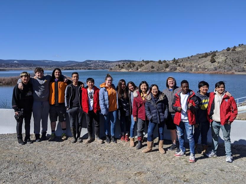 High School students at Unity Lake
