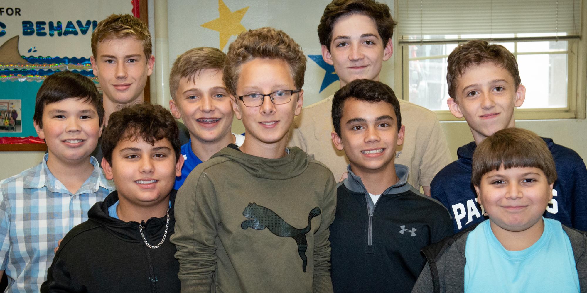 Hampton Academy students