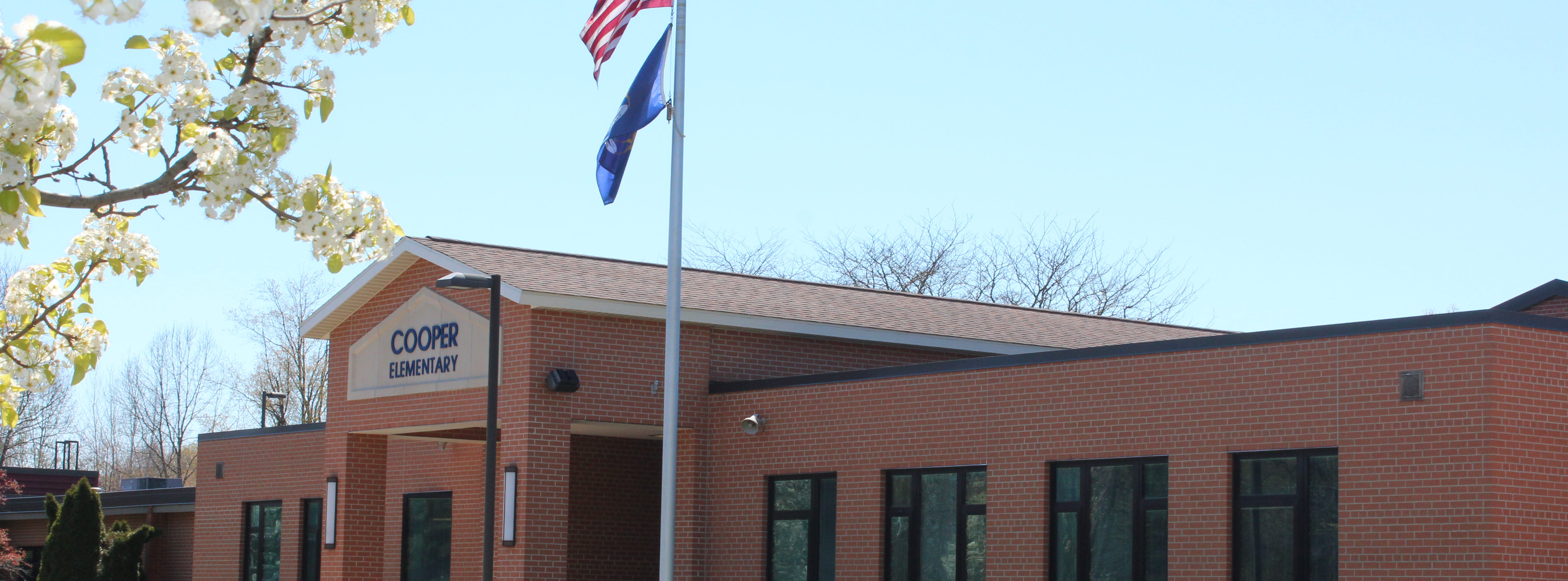 Exterior Picture of Cooper Elementary main entrance