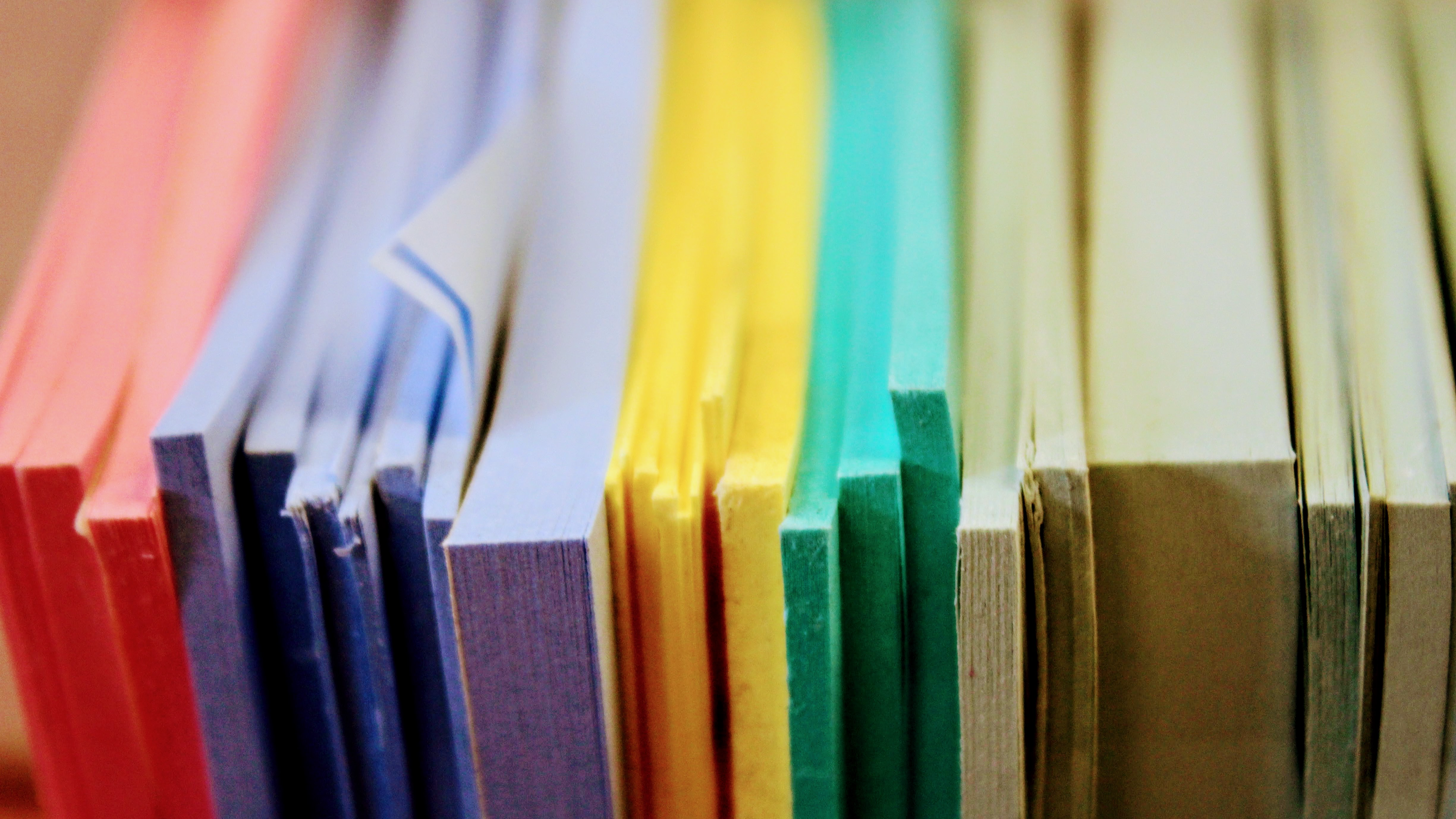 Intro to photography Picture of colored sheets of paper