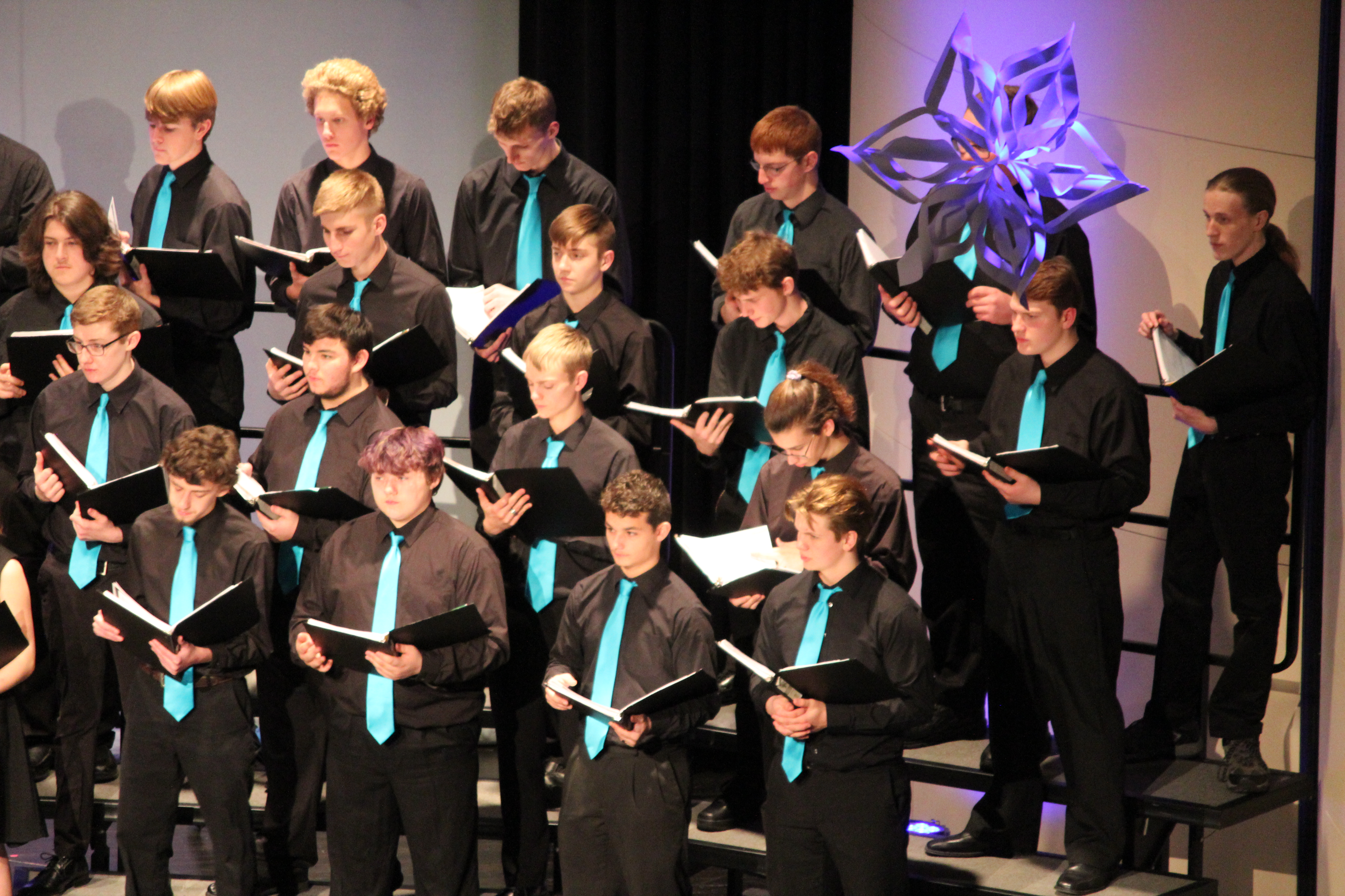 Picture of PHS choir during Spectrum performance
