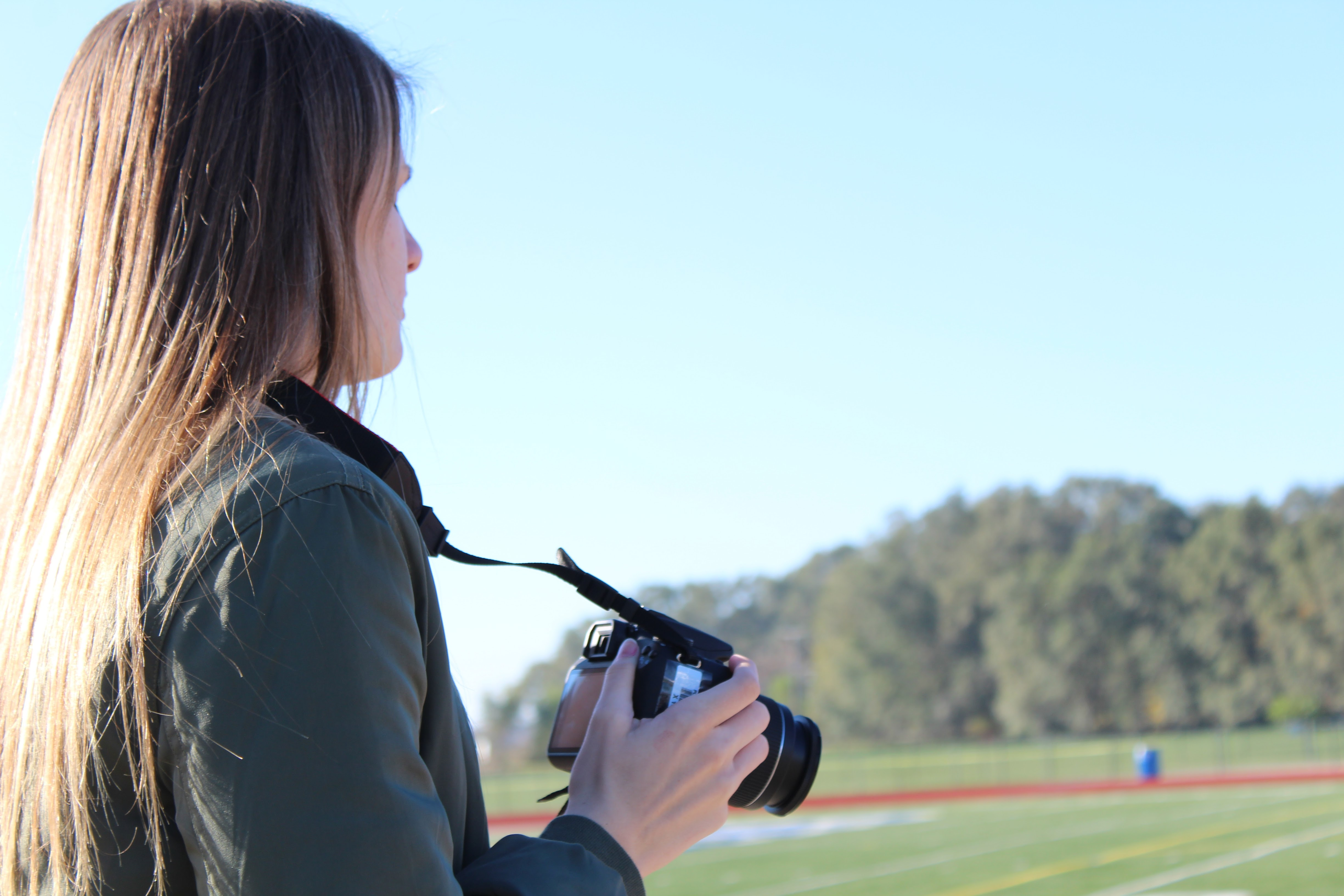 Picture of student holding a camera