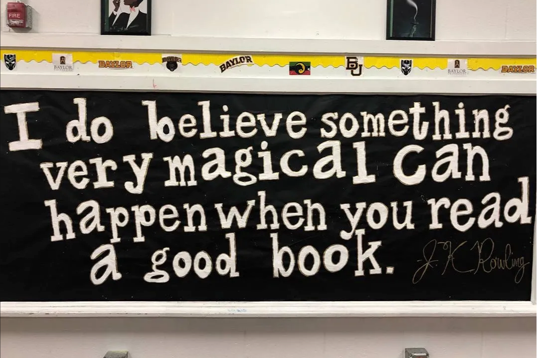 """""""I do believe something very magical can happen when you read a good book."""""""