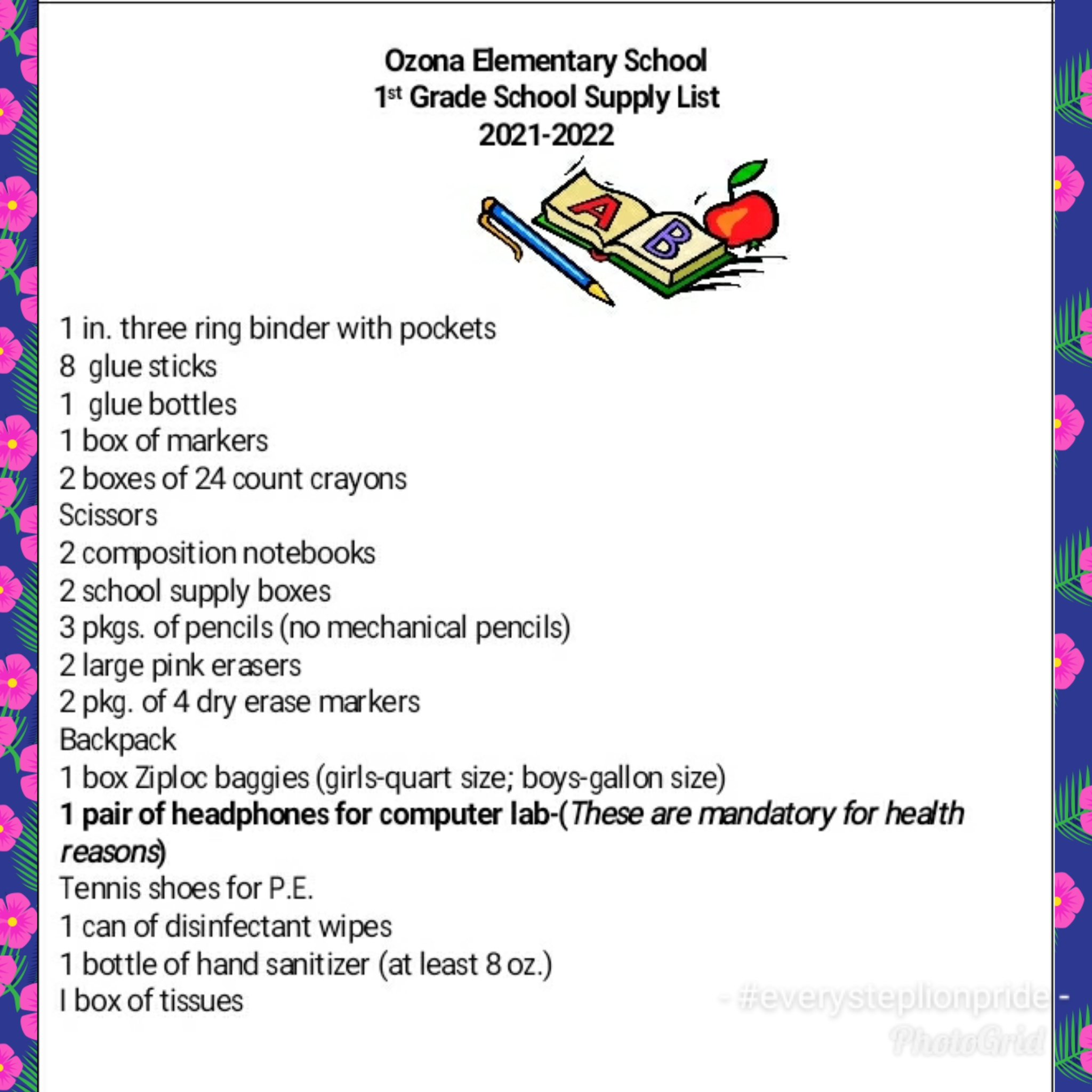 1st grade 2021-22