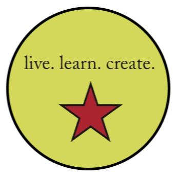 live. learn. create. logo