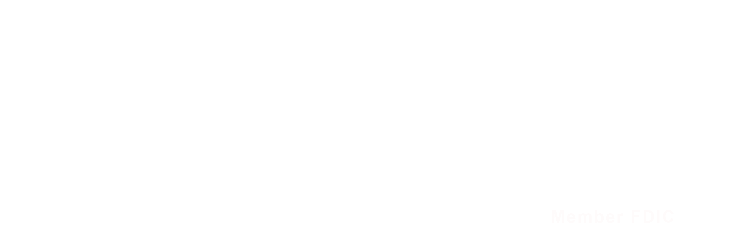 Mid America Bank Logo in all white