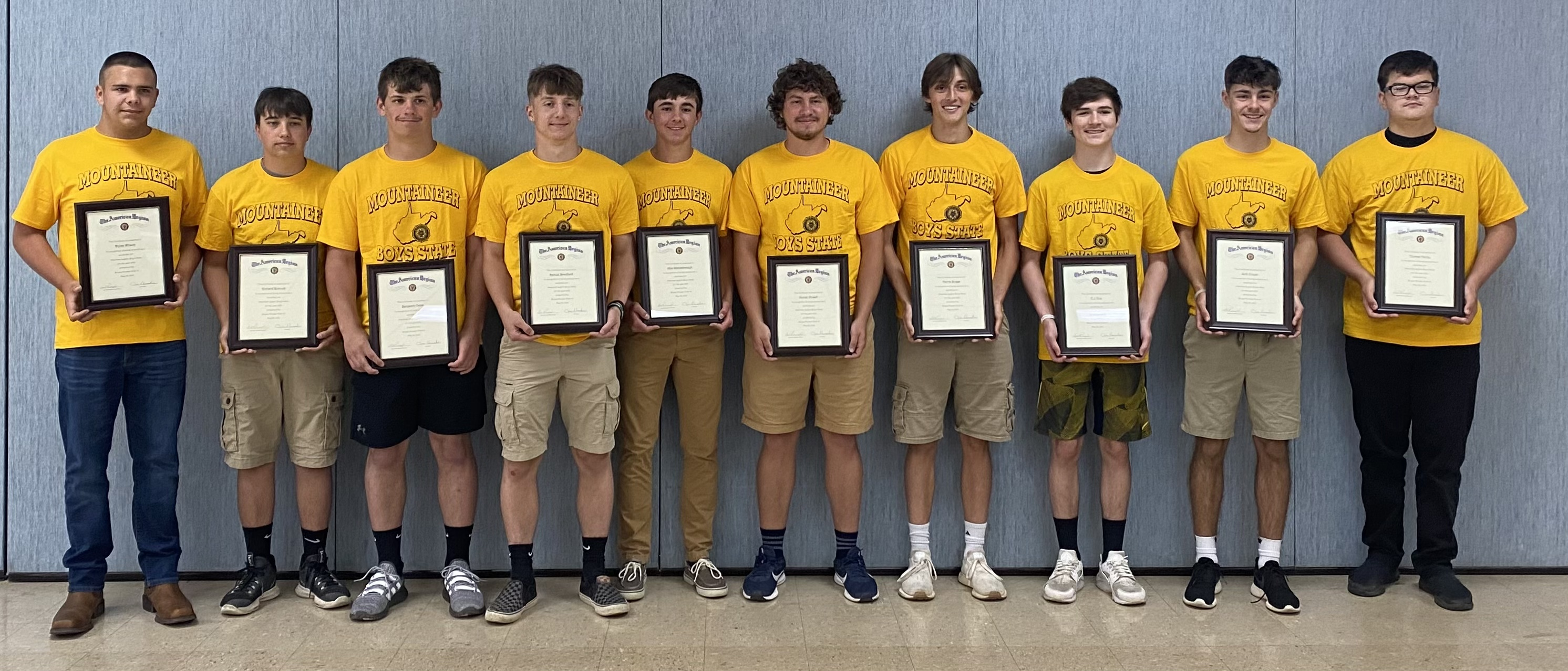 Students to attend American Legion Mountaineer Boys State