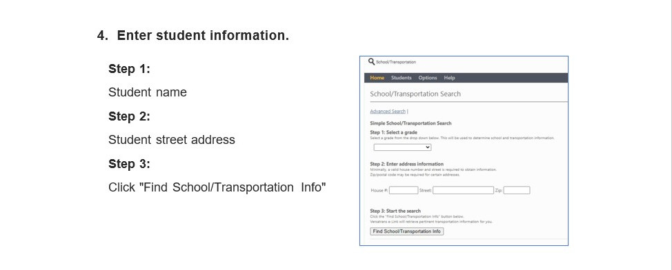 4 Enter student information