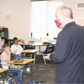 pic of class during superintendent visit