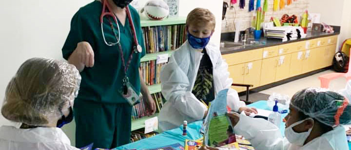 Students being doctors
