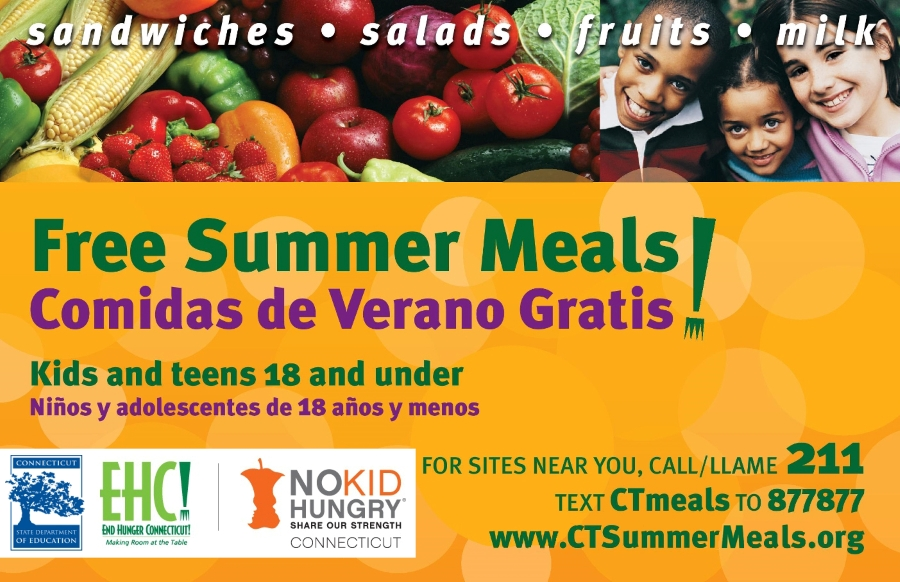 Free Summer Meals info-graphic