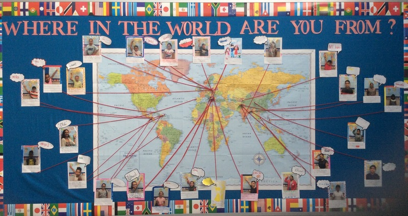 photo of where in the world are you from bulletin board