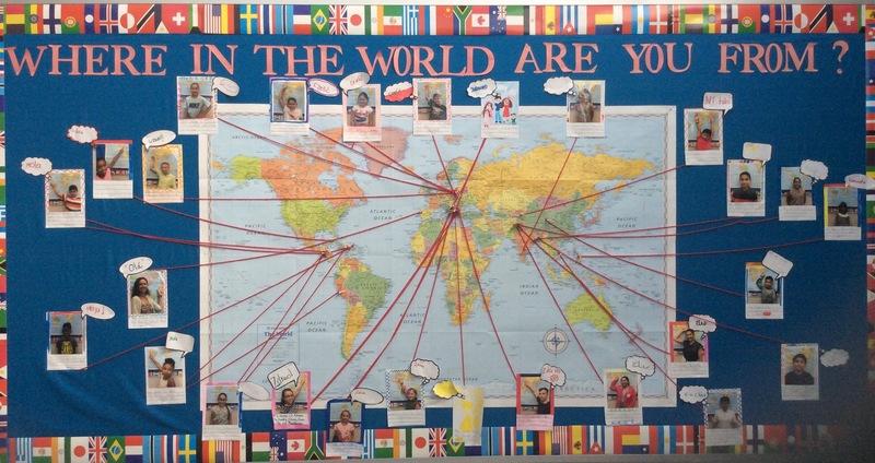 photo of bulletin board map