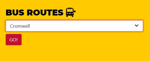 bus routes search bar