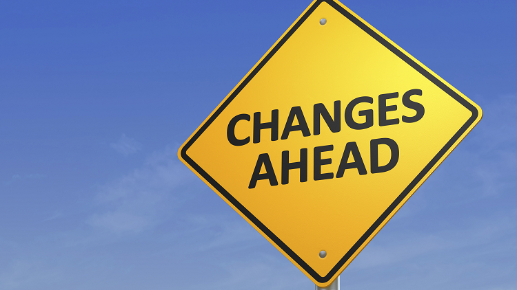 photo of a changes ahead sign