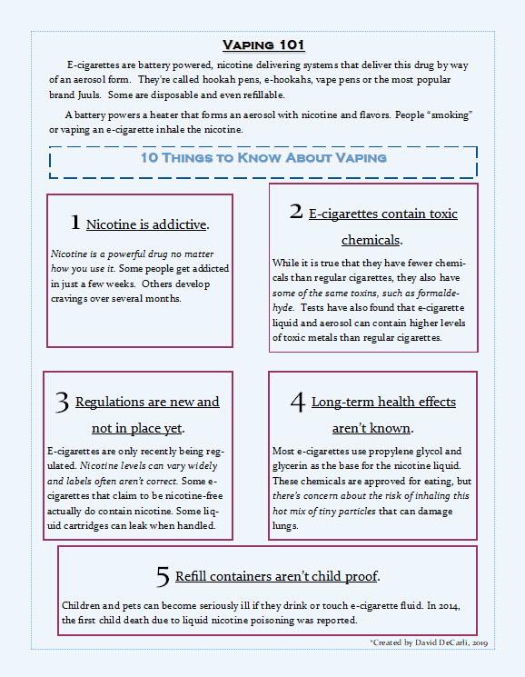 vaping 101 info-graphic
