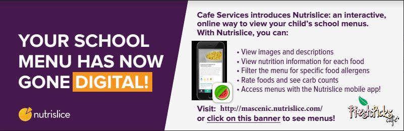 Your school menu has now gone digital