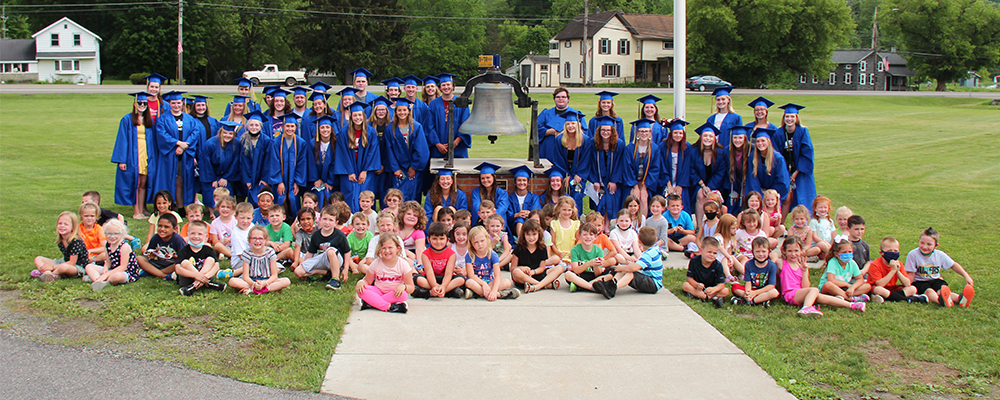 graduates and students by bell