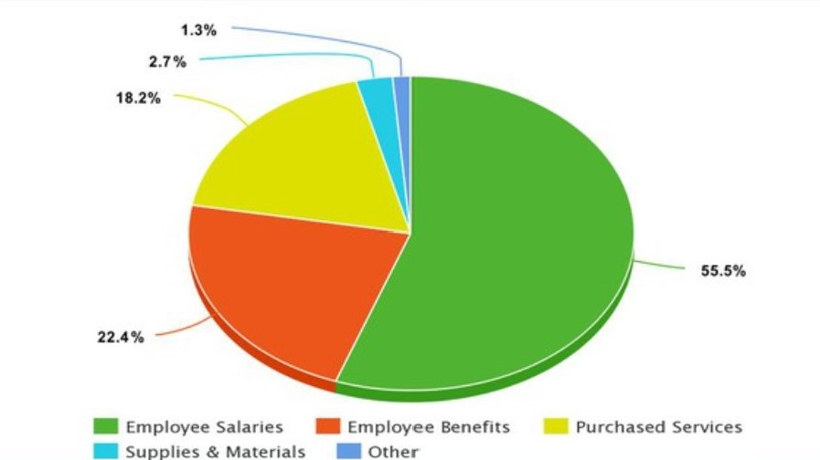 Pie chart of operating expenses