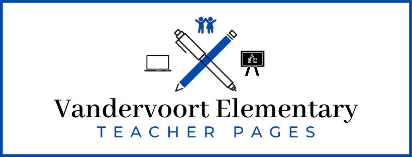 graphic of vandervoort elementary teacher pages