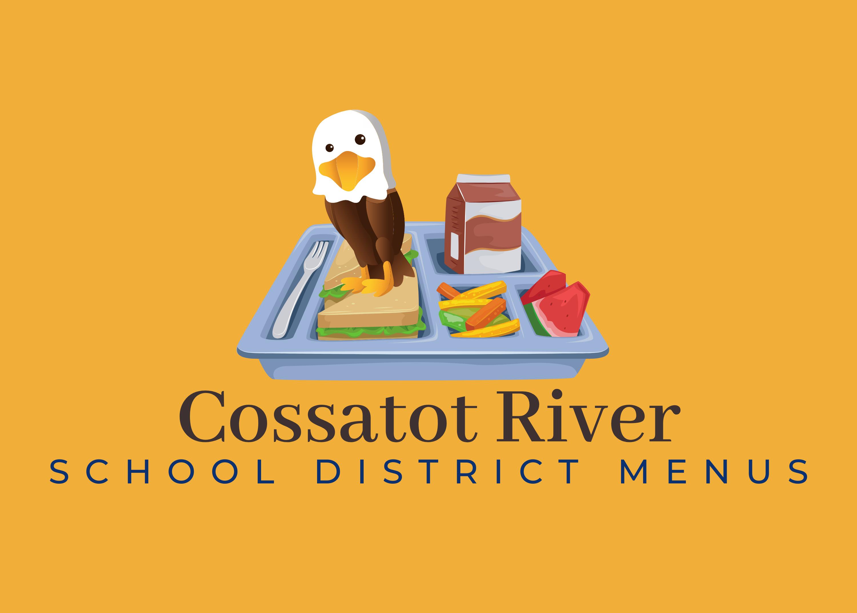 Cossatot River school district menus graphic
