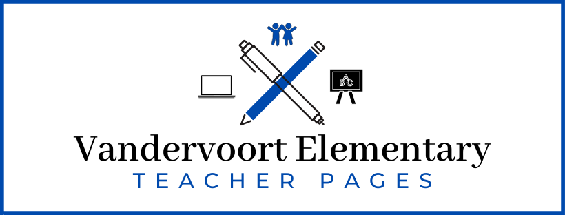 photo of vandervoort elementary teacher pages graphic
