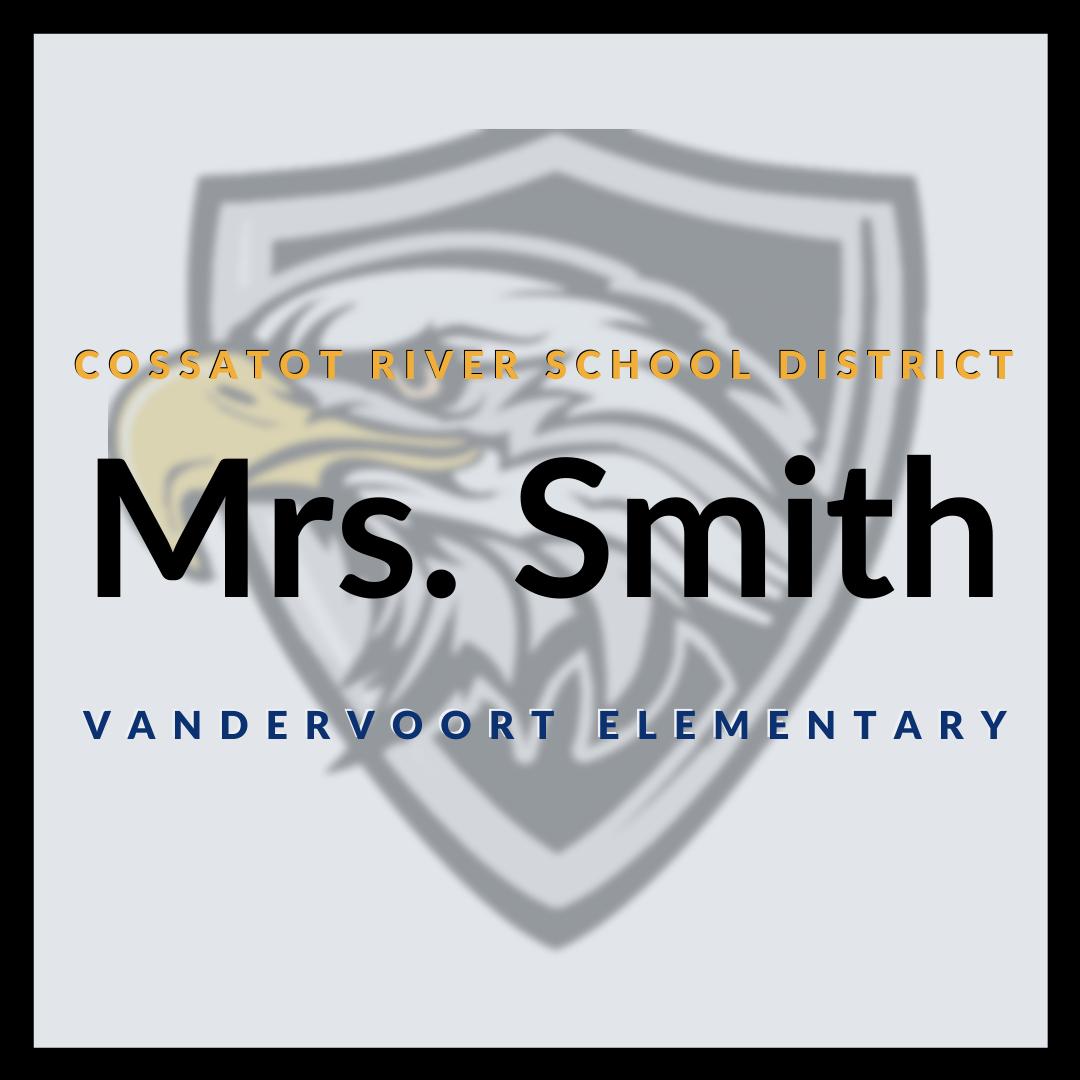photo of cossatot river school district teacher mrs. smith's online classroom graphic
