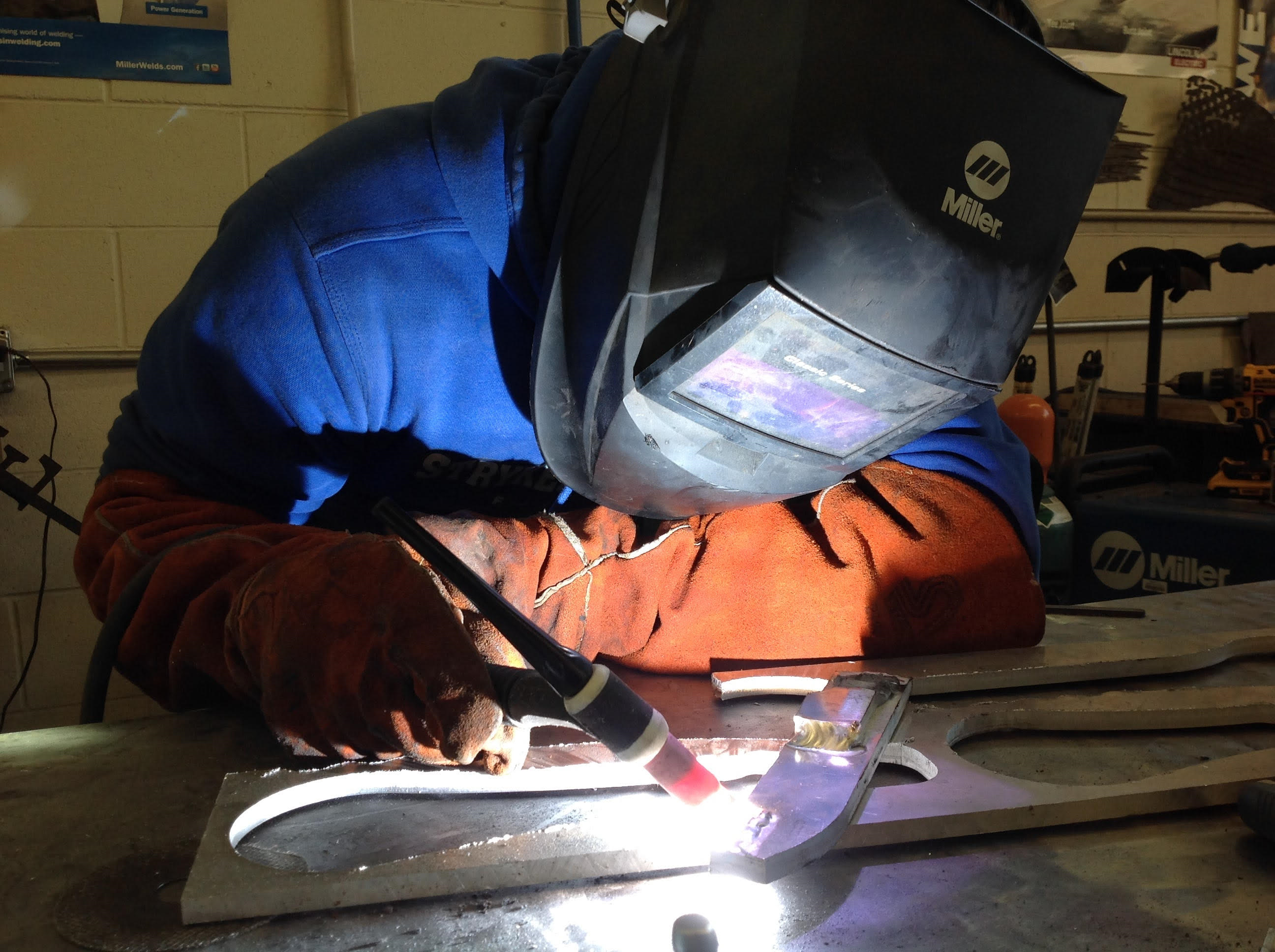 Stryker student welding