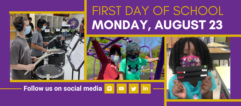 Affton First Day of School is Monday, August 23, 2021 graphic
