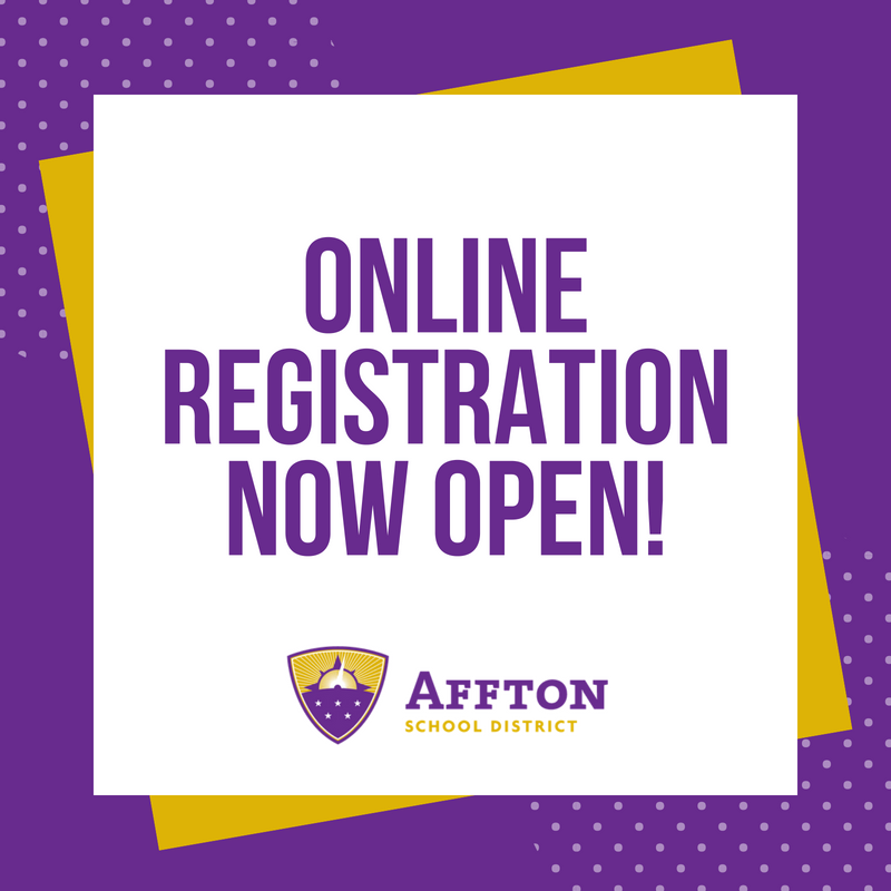 Online Registration is Now Open graphic