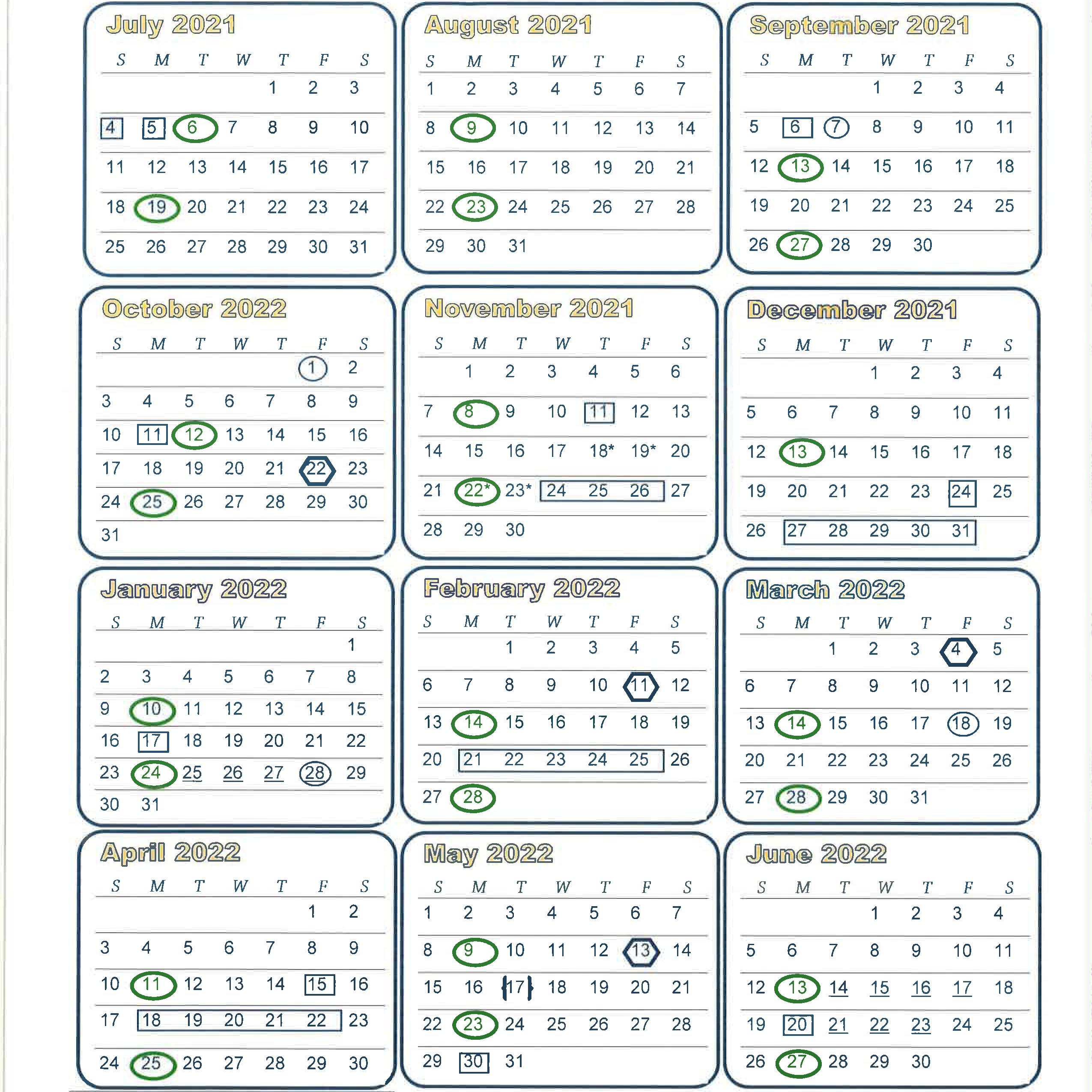 BOE Calendar