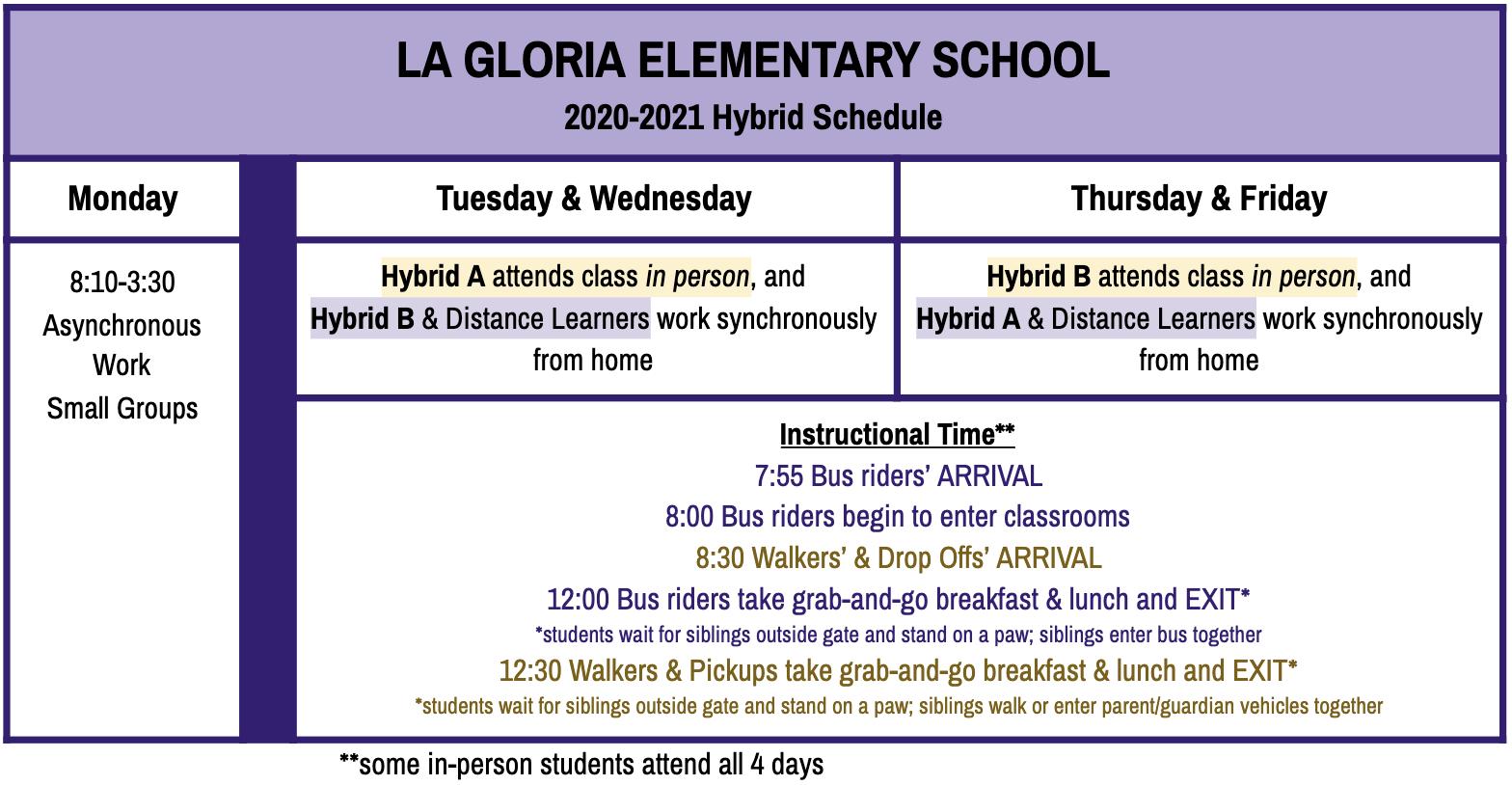 TK-5th LGE Hybrid Schedule