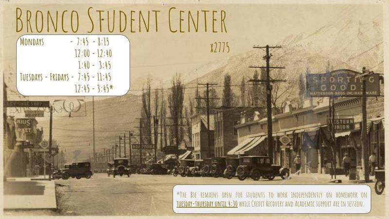 Bronco Student Center - Info
