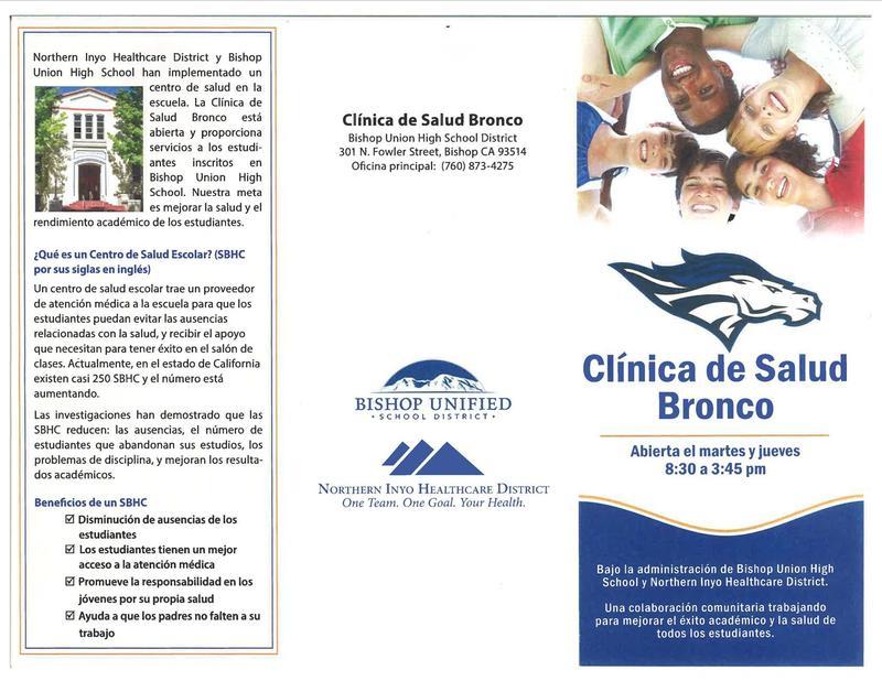 Clinica de Salud Bronco - Tríptico