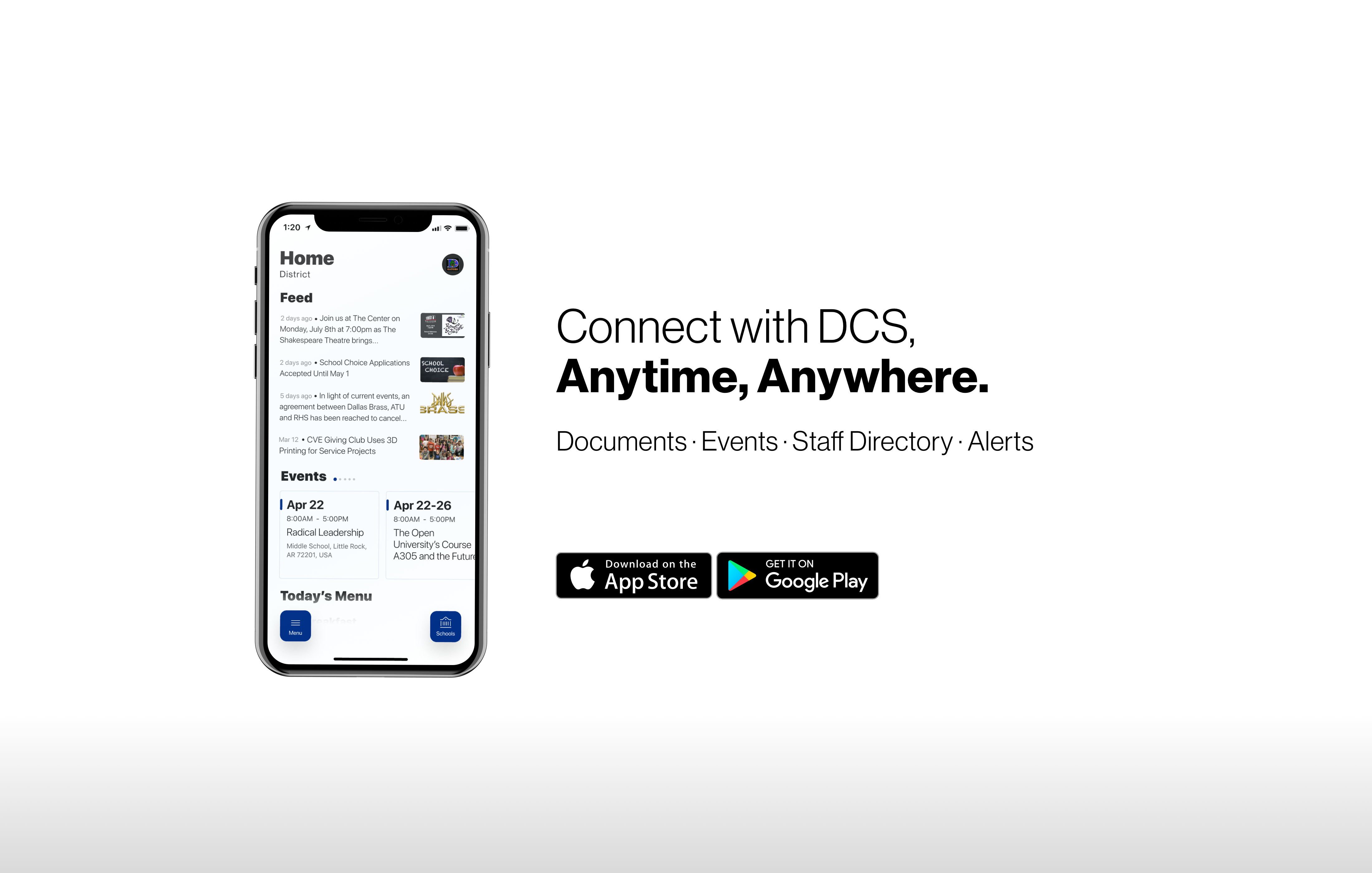 Connect with DCS by downloading our new mobile app